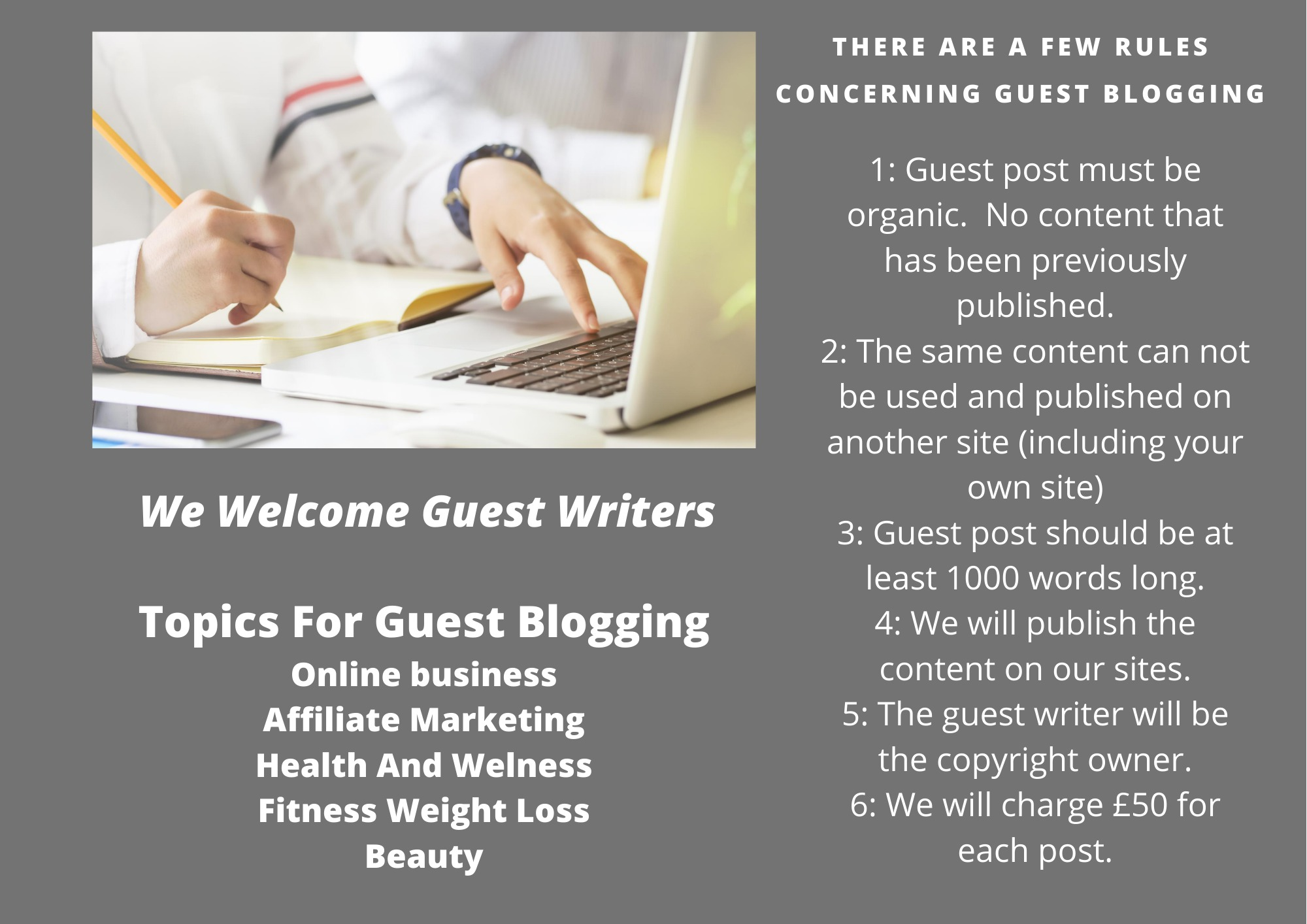 Guest writing terms and conditions
